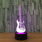 USB Alimentado Guitarra 3D Illusion Night Light 7