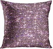 vbndfghjd Throw Pillow Cover Ombre Pink Sequin