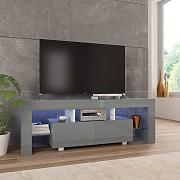 vidaXL Mueble para TV con luces LED gris brillante