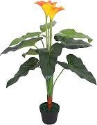 vidaXL Planta cala lilly artificial con maceta 85