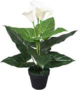 vidaXL Planta cala lilly artificial con macetero