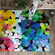 Vilber New Look Dots Alfombra, Vinilo, Multicolor,