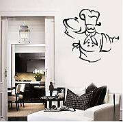 Wangzxc Etiqueta De La Pared Chef Hat Delantal