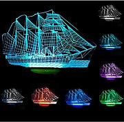 WAOBE Velero 3D Night Light Ship Modern100 ~ 240v