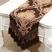 Wddwarmhome Brown Table Runner Tableta De Mesa Simple De La Muestra Mantel De Mesa De La Sala De Estar (Sólo Vendo Corredor De La Tabla) 33 * 300cm