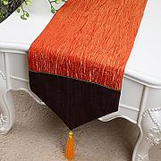 Wddwarmhome Naranja Table Runner simple color sólido de moda bordado toalla de mesa de café (sólo la venta corredor de la tabla) 33 * 300cm