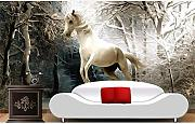 Weaeo Custom 3D Wallpaper Painting Horse 3D