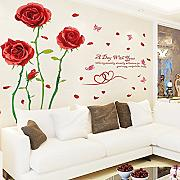 Weaeo Rose Pared Decoración Pintura Etiqueta De