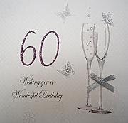 White Cotton Cards Wishing You 60th cumpleaños