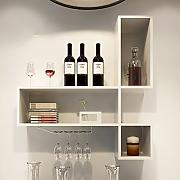 Wine rack Clothes UK Wall Wine Cabinet Wood Wine