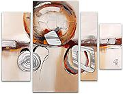 World Art Abstracto Pintura, Madera, Multicolor,