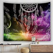 wrhua Colorido Dream Catcher Tapiz Hippie Bohemio