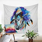 wrhua Tapiz Tribal Horse Wall Hanging In Bedroom