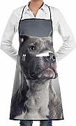 Wthesunshin Pitbull Dog Cute Delantal Babero