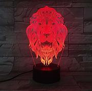 XINGXIAOYU Lion Face Night Light 7 Colores Que