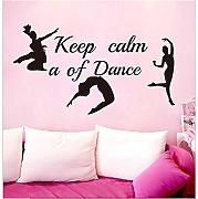 yangyueyue Pegatina de pared Keep Calm Of Dance