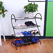 Zapatero Material de hierro Multi-Layer Shoe Rack