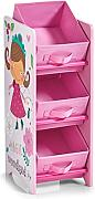 Zeller 13493 Kinder-Regal m. Vliesboxen Girly Estante, MDM, Dekor, 23.5 x 30 x 65 cm