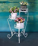 ZENGAI Hierro Plegable Flower Pot Racks Multi -