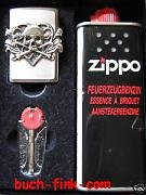Zippo - Mechero Skull with Heart Set de regalo