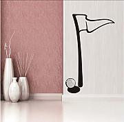 Zlxzlx Minimalista Golf Flag Etiqueta De La Pared