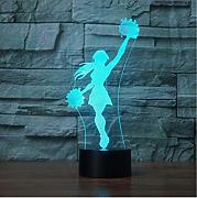 Zlxzlx  Usb Cheerleader Modeling Night Light 3D 7