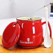ZTZT Boys mug with lid spoon Starbucks style